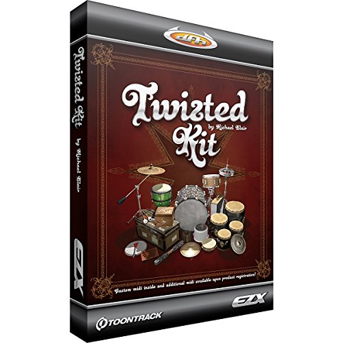 Toontrack Twisted Kit EZX Expansion Pack Software for EZdrummer – Sampled by Michael Blair – Expansive MIDI Library – Includes Download Key 2 Sample Library Dvd