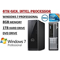 Dell Inspiron 3000 Series High Performance 3250 Desktop PC - 6th Gen. Intel Core i3-6100U 2.3GHz Processor - 8GB RAM - 1TB 7200RPM HDD - DVD Drive - WiFi - BT - HDMI - Windows 7 Professional.