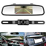 LeeKooLuu CMOS Reverse/Rear View Camera and Monitor Kit for Car With 7 LED Night Vision