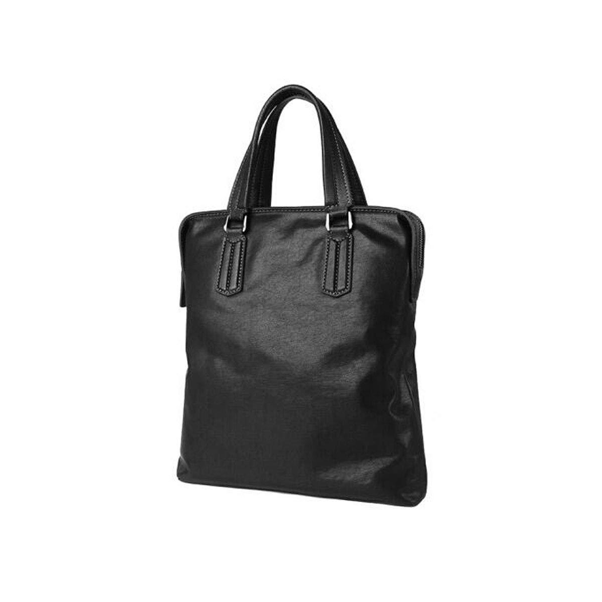 8haowenju ブリーフケース、ニューシンプルファッションメンズハンドバッグ、トップレザー縦型大容量コンピュータバッグ、ブラックサイズ:29.57.534cm  ブラック B07Q27DCVR
