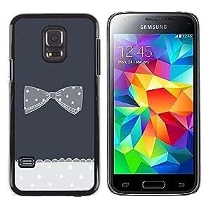Be Good Phone Accessory // Dura Cáscara cubierta Protectora Caso Carcasa Funda de Protección para Samsung Galaxy S5 Mini, SM-G800, NOT S5 REGULAR! // bow bowtie grey crocheted polk
