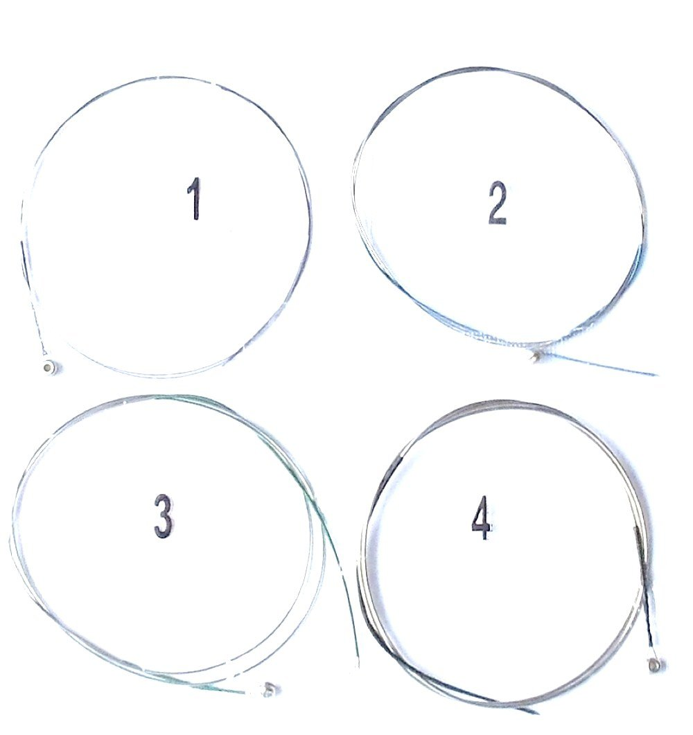 Generic Viola Strings Set 16 inch Solid Steel Core Nickel Alloy Wound for Student MID KL122A