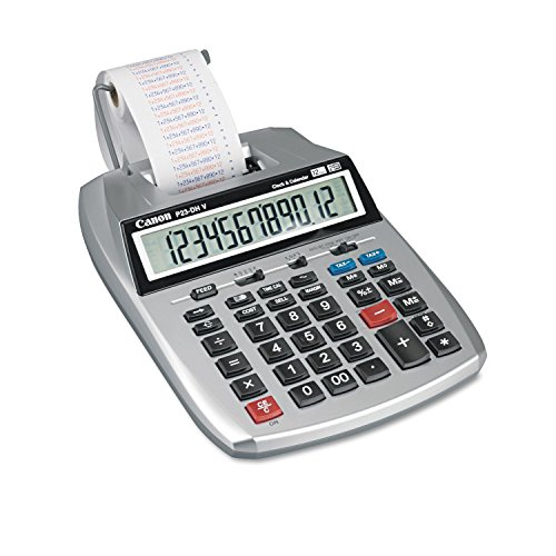 Canon P23DHV P23-DHV 12-Digit Printing Calculator, Purple/Red Print, 2.3 Lines/Sec by Canon