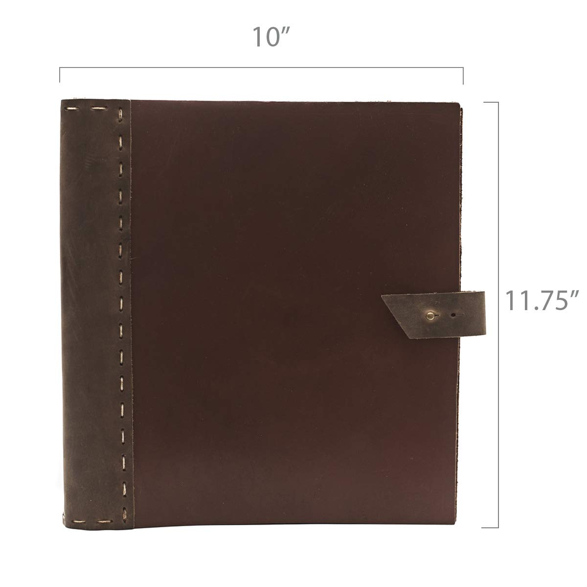 Rustic Leather Binder Handmade by Rustico in The USA, Handsewn,Thick, Rich Top-Grain Leather, 3 Ring Spine, 1.5'' Rings, Protect and Store Important documents (Thick Cinnamon & Dark Brown) by Rustico