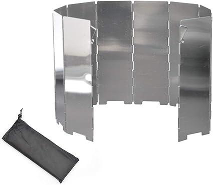 Parabrisas plegable para estufa al aire libre, ligero ...