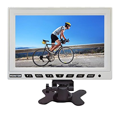 PYLE PLHR97W 9-Inch TFT LCD Headrest Monitor with Stand (White)