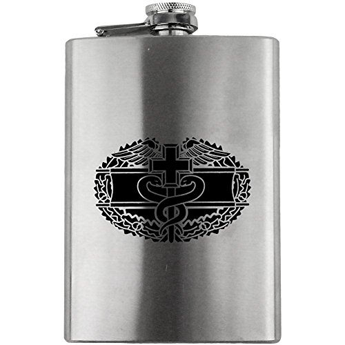 Combat Medical Badge Army Veteran 8oz. Flask