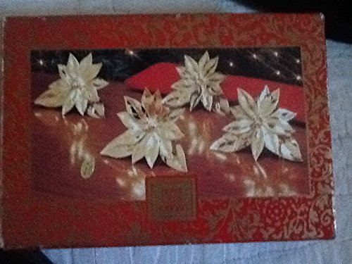 - Brass Napkin Rings, Holiday Napkin Rings, Poinsettia Napkin Rings Set of 4