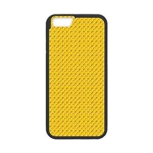 Doah Yellow Pattern & Yellow Texture IPhone 6 Case Pattern Yellow Dots, [Black]