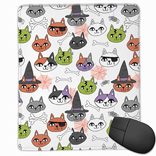 Mouse Pad Cute Halloween Cat Non-Slip Rubber Gaming Mouse Pad Mat 9.8 X 11.8 X 0.1 Inchs