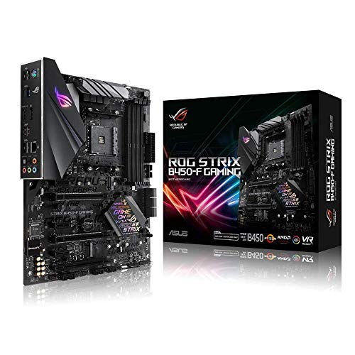 Asus ROG Strix B450-F Gaming Mainboard Socket AM4 (ATX, AMD B450, DDR4 geheugen, USB 3.1, NVME M.2, Aura Sync…