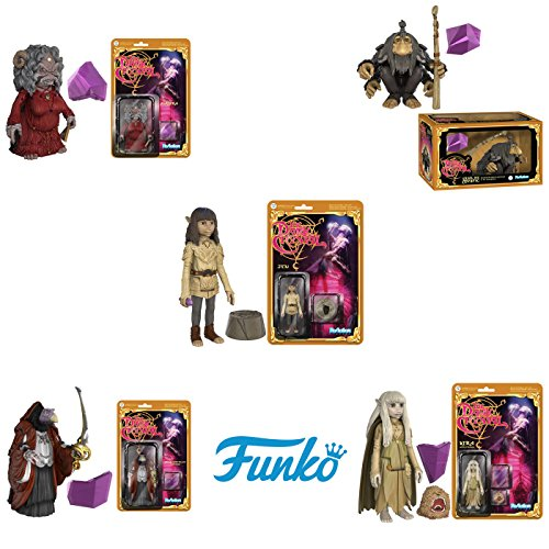 ReAction: The Dark Crystal Jen, Kira, Aughra, UrSol, Chamberlain Action Figures Set of 5