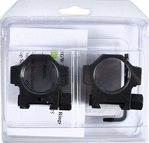 EGW 30mm Tactical Aluminum Riflescope Rings, Black, 0.850in High -