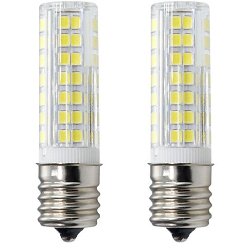 XRZT E17 LED Bulb for Microwave Oven Over Stove Appliance, 6 Watt(60W Halogen Bulbs Equivalent), 110-120V, Intermediate Base, Dimmable, 2-Pack (Daylight White)