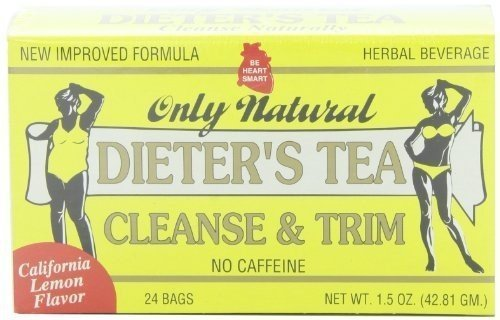 Only Natural Cleansing Diet Tea Lemon 24 Bag (Pack of 12) by Only Natural by Only Natural
