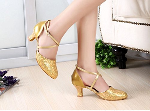 Creuses Gold amp; Internationale Color Amitié Avec De Juste Fond Des Danse Latine Paillettes 39 Fines Longue Tmkoo Taille Chaussures Doux dTWvwgIIq
