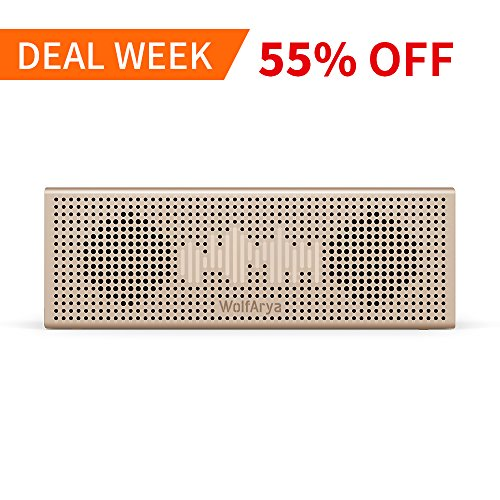 Bluetooth Speaker with 14-Hour Playtime, Loud 10W Stereo Sound, Rich Bass, 66 Foot Bluetooth Range, Built-in Mic. Portable Wireless Speaker for iPhone, Samsung, and More by WolfArya