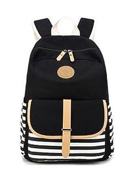 YANFEI Mochilas escolares ligeras mochila casual para las mujeres y el estilo de la escuela de la niña de gran capacidad de lona bolsas de hombro mochilas ...