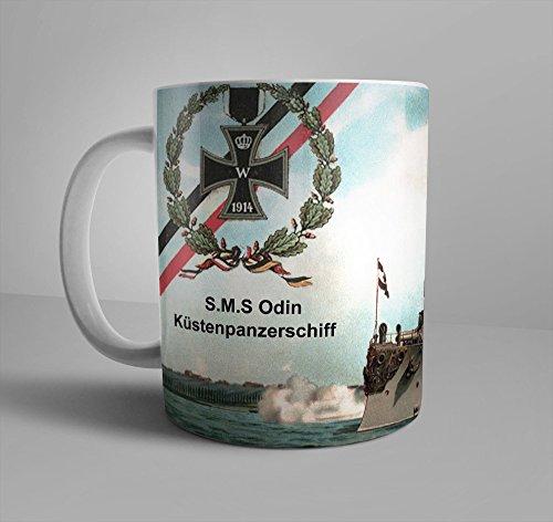 WWI SMS Odin Coastal Defense Ship Imperial German Navy WW1 German Empire Iron Cross WWI 11 oz Coffee Mug Küstenpanzerschiff ODIN