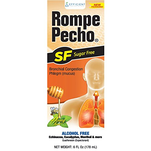 Rompe Pecho SF Sugar Free Cough Syrup 6oz (Rompe Syrup Cough Pecho)