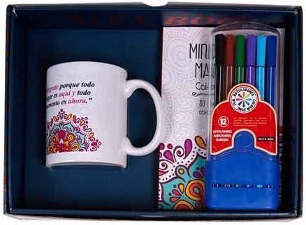DONREGALOWEB Pack Regalo Taza y Cuaderno Mandala con Bolis de ...