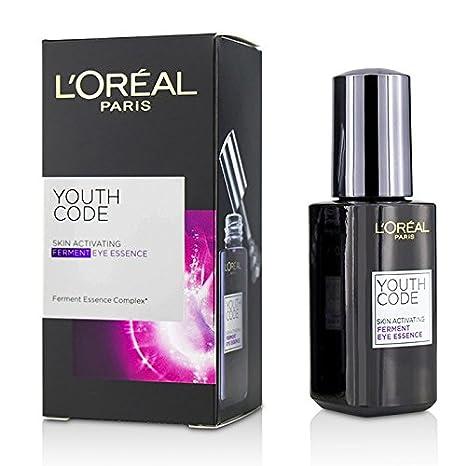 LOREAL Youth Code Skin Activating Ferment Eye Essence  20ml/0.67oz 2 Pack - Alba Botanica Even Advanced Sea Algae Enzyme Scrub, 4 oz