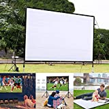 Kindes 60 inch Projection Movie Screen 4:3 HD Foldable Anti-Crease Portable Projector Movies Screens with Portable Bag, for Home Theater Outdoor Indoor
