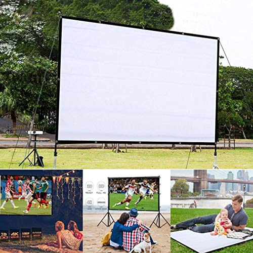 - Kindes 60 inch Projection Movie Screen 4:3 HD Foldable Anti-Crease Portable Projector Movies Screens with Portable Bag, for Home Theater Outdoor Indoor