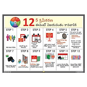 Mr  Safe - 5S 12 Steps To 5S Sorting Event Success Poster in Telugu