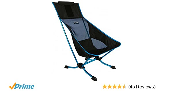 Amazon.com : Helinox Beach Chair Lightweight, Lower-Profile, Compact, Collapsible Camping Chair, Black : Sports & Outdoors