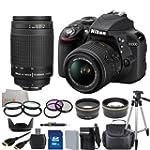 Nikon D3300 Digital SLR Camera Black...