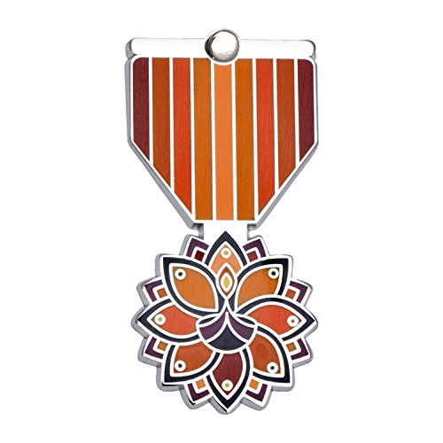 DIWALI Greeting Card & Gift (Lapel Pin / Necklace Charm) Holiday Thank You Note by Merit Medals