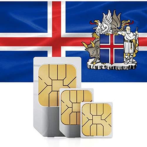 Carte SIM Mobile Haute Vitesse 2 Go Compatible 30 Jours (Danemark, Finlande, Islande, Norvège, Suède) 2 GB for 30 Days