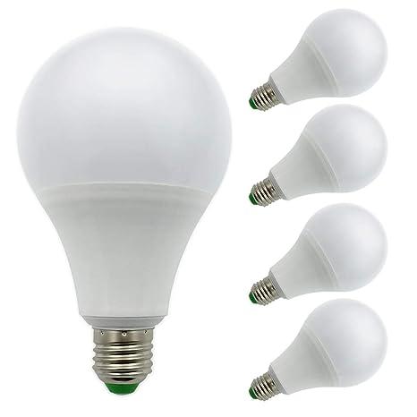 Pack de 4 bombillas, E27, luz de 12 V AC/DC 12 W