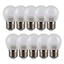 ChiChinLighting 5w G14 E26 LED Bulbs Daylight White LED Globe Shaped Lamp Bulb 320 lumens 180° Viewing Angle Brighter than 25 Watt Incandescent Bulb Energy Saving Light Bulbs LED Lights for Home (6000k Daylight White)