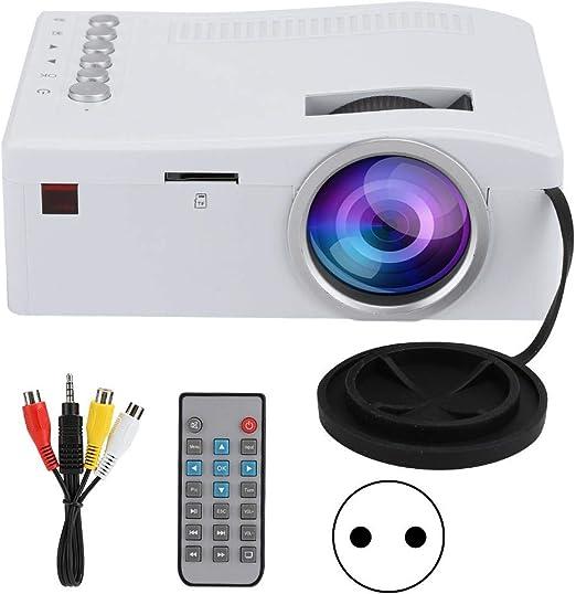Mini proyector, UC18 Mini proyector LED Proyector USB con Entrada ...