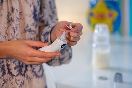 OMRON MC-521-E - Termómetro de oído, color blanco: Amazon.es: Salud y cuidado personal