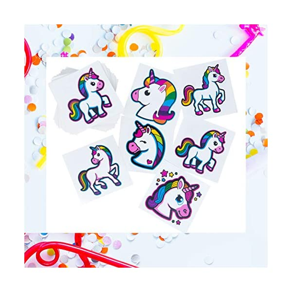 Unicorn Tattoos - 72 Pack Set Of Assorted Unicorn Temporary Tattoos - Great For Birthday Party Favors, Classrooms, Favor… 7