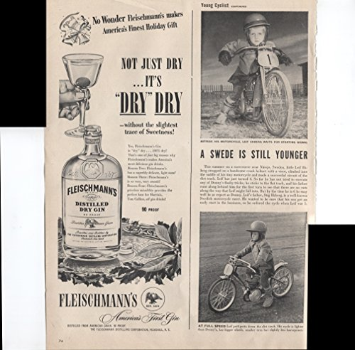 Fleischmann's Distilled Dry Gin 90 Proof Not Just Dry . . . It's
