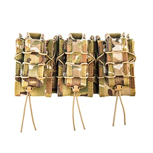 High Speed Gear MOLLE Double Decker TACO Shingle, 3 Rifle/Pistol Mag Pouches - MultiCam (Best Ar Mags Available)