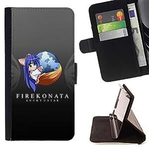 BullDog Case - FOR/Sony Xperia Z1 L39 / - / cool funny earth fire fox animal planet /- Monedero de cuero de la PU Llevar cubierta de la caja con el ID Credit Card Slots Flip funda de cuer
