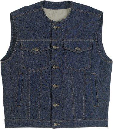 Biltwell Inc. Prime Cut Vest without Collar , Gender: Mens/Unisex, Primary Color: Blue, Size: Md, Distinct Name: Indigo DV-IND-DN-MED