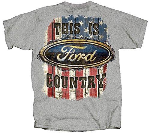 - Joe Blow Ford Country American Flag T-Shirt-xxxl