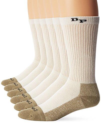 Dan Post Men's Dan Post Work & Outdoor Socks Mid Calf Mediumweight Steel Toe 6 pack Natural -