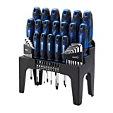 Draper 81294 Driver Set Plus Stand - Blue (44-Piece)