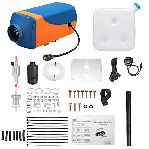 Acquisto HermosaUKnight 8kw / 12v LCD Singolo con Telecomando Silenziatore Diesel Riscaldatore d'Aria-Blu e Arancione Prezzi offerte