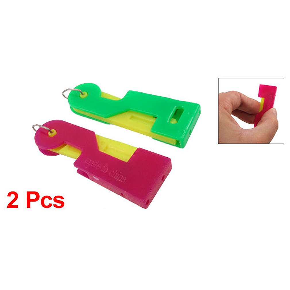 Sonline 2 Pcs Sewing Automatic Assorted Color Plastic Needle Threader