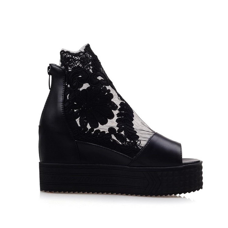 AdeeSu Womens Casual Peep-Toe No-Closure Light-Weight Urethane Boots  SDC03624: Amazon.ca: Shoes & Handbags