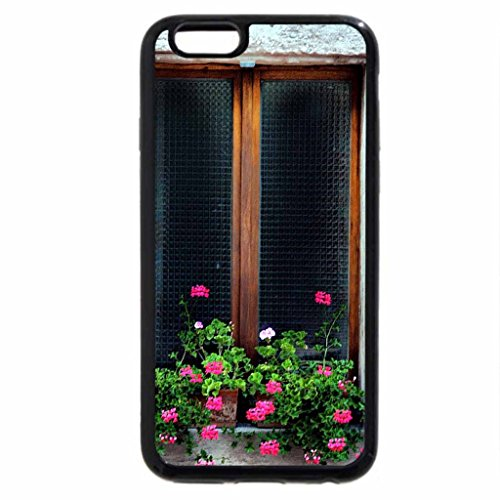 iPhone 6S / iPhone 6 Case (Black) Window Flower Box