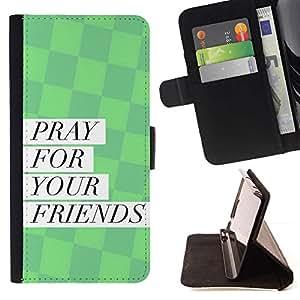 Momo Phone Case / Flip Funda de Cuero Case Cover - BIBLIA rogación para sus amigos; - LG G4